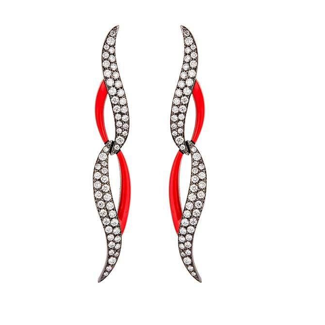 Etho Maria swoop earrings