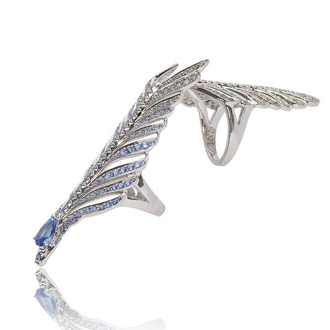 Flont Crows Nest diamond ring