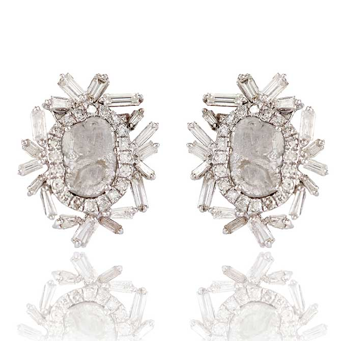 Flont Payal Shah diamond earrings