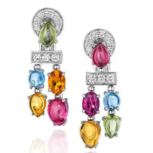 Flont vintage Bulgari gemstone earrings