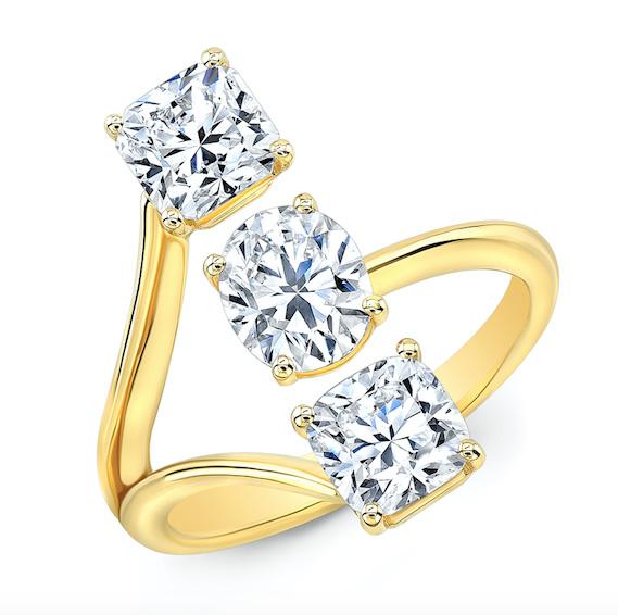 Forevermark 3 stone ring