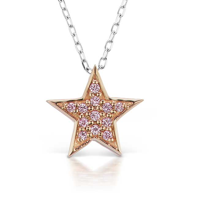 JFine Argyle diamond star pendant