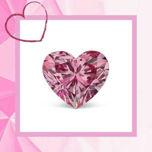 JFine Argyle heart shape pink diamond