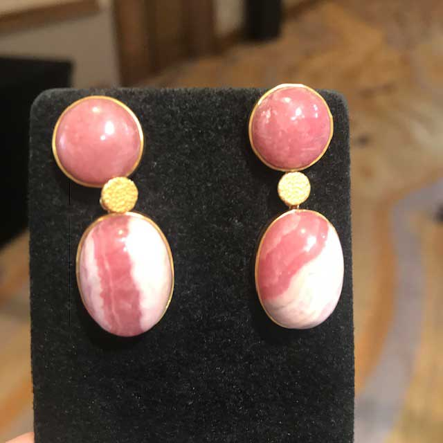 JS Noor rhodochrosite earrings