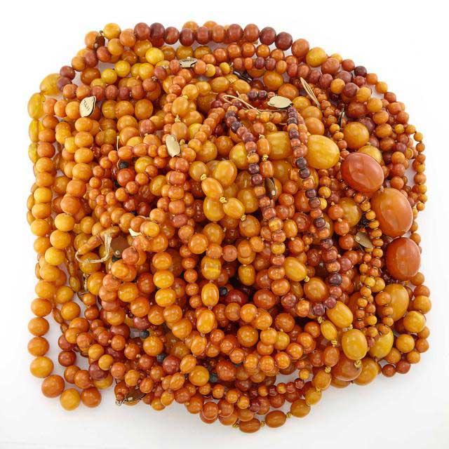 Linda Lee Johnson auction amber beads