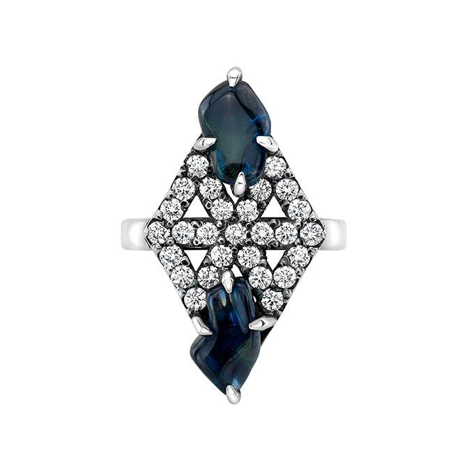 Meredith Young bicolor sapphire ring