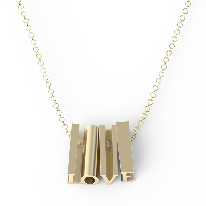 Mathematics Love necklace