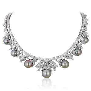 Andreoli pearl and diamond necklace