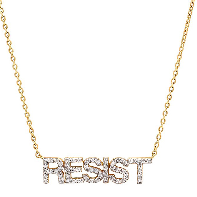 Eriness diamond Resist necklace