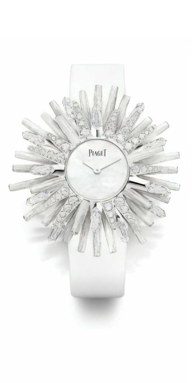 Piaget White sun cuff watch