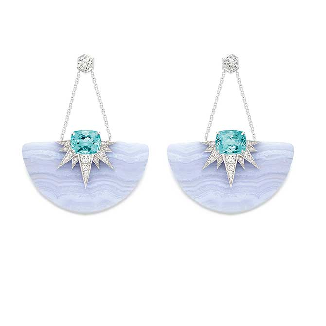 Piaget chalcedony earrings