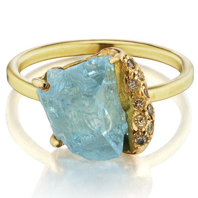 Debra Navarro aquamarine Gee ring