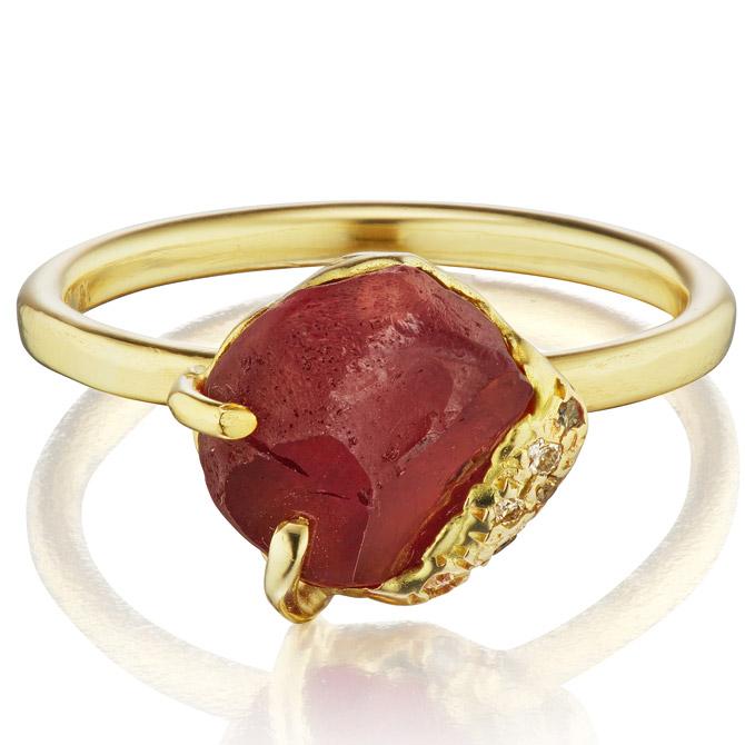 Debra Navarro Malaya garnet Gee ring