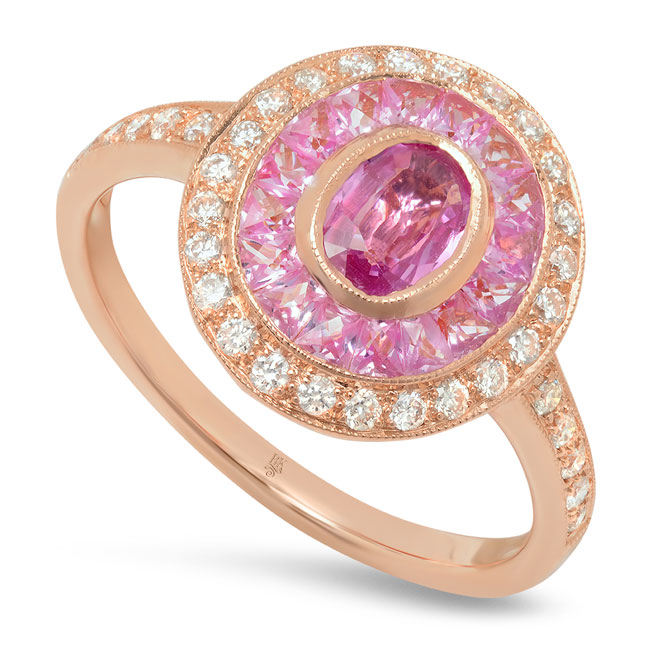 Beverley K pink sapphire ring
