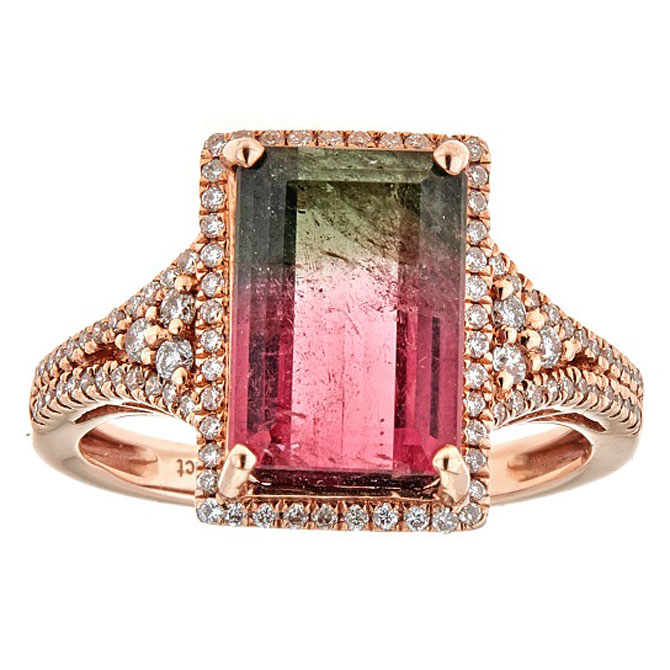 Cirari bicolor tourmaline ring