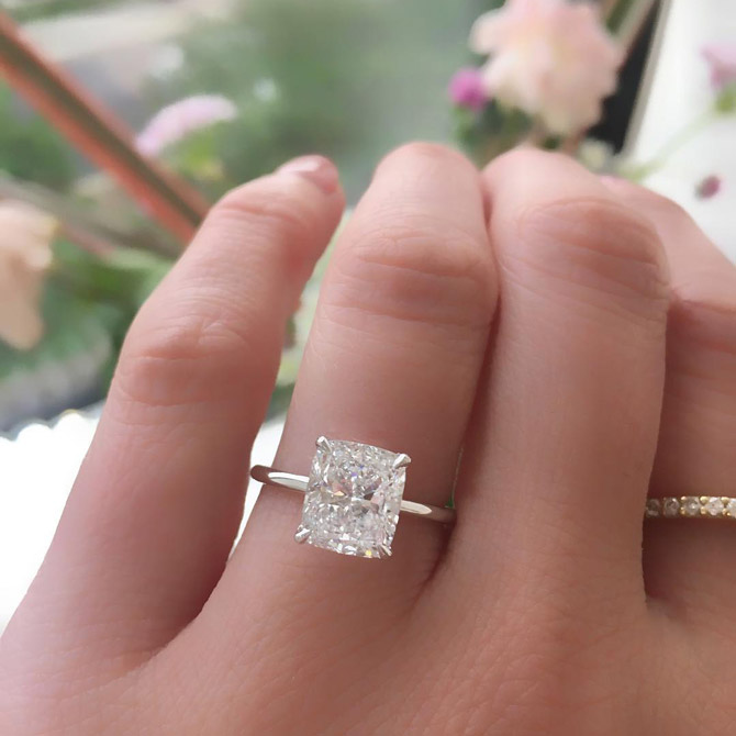 The Diamond Reserve cushion cut diamond