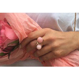 Samsares pink opal flowerbud rings