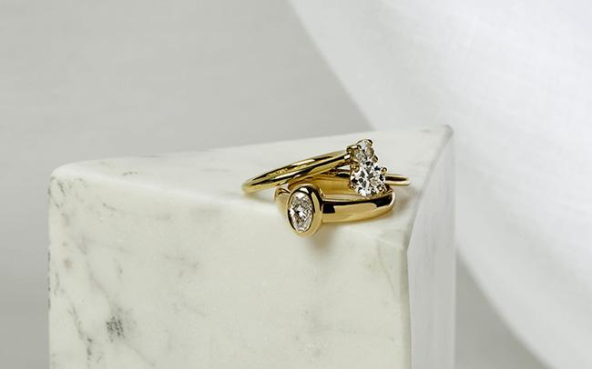 TRR x Ceremony diamond rings