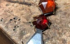 Whtiney Abrams garnet pendant in progress