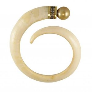 Anomy golden tusk cuff
