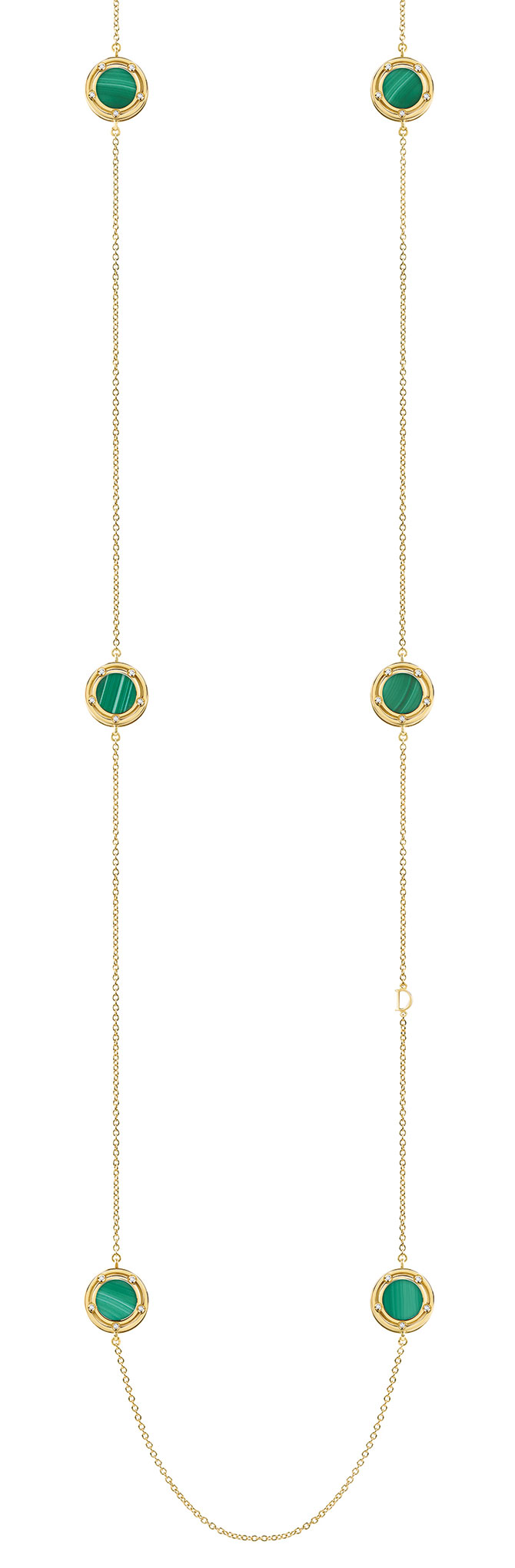 damiani malachite necklace