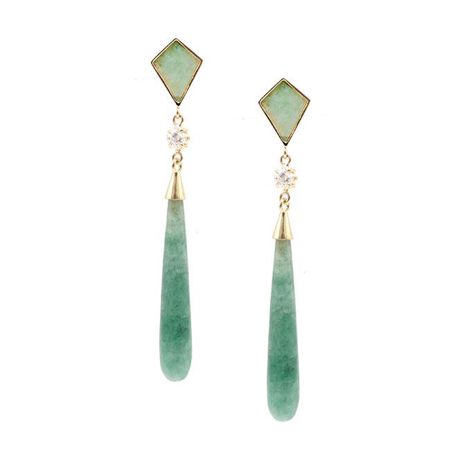 Ashley Zhang jade earrings