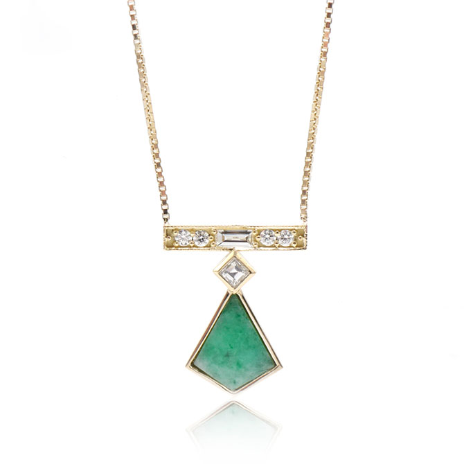 Ashley Zhang jade kite necklace
