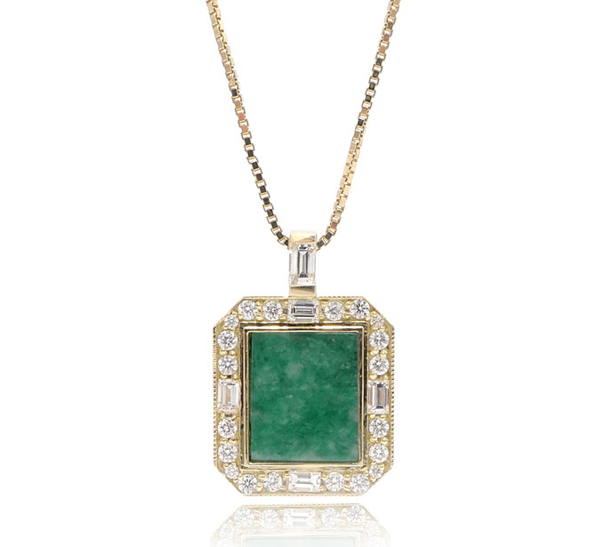 Ashley Zhang jade square necklace