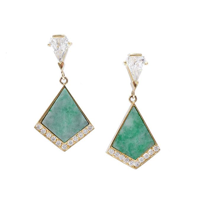 Ashley Zhang kite jade earrings