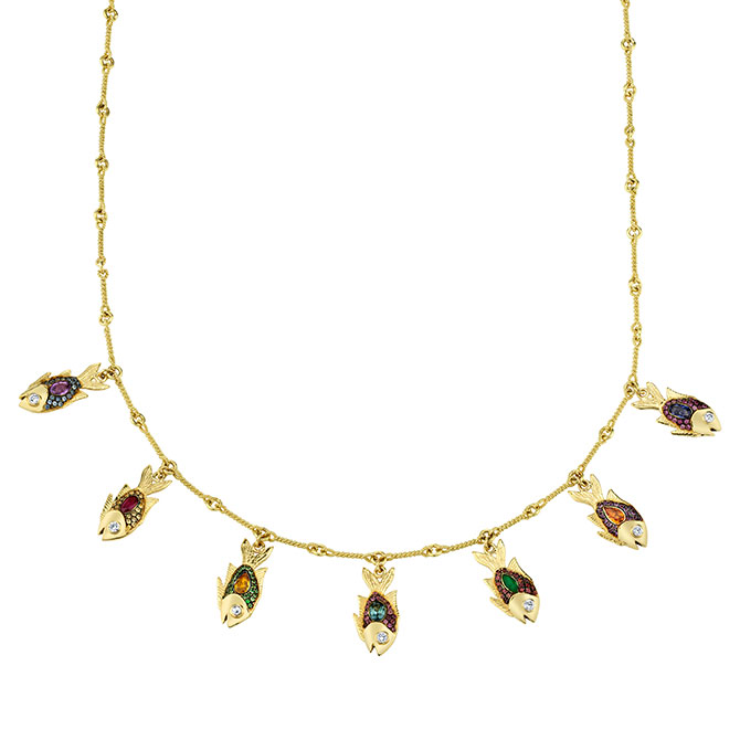 Daniela Villegas 7 Tokens of Luck necklace