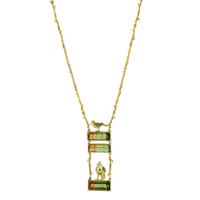 Daniela Villegas Fairy Wren necklace