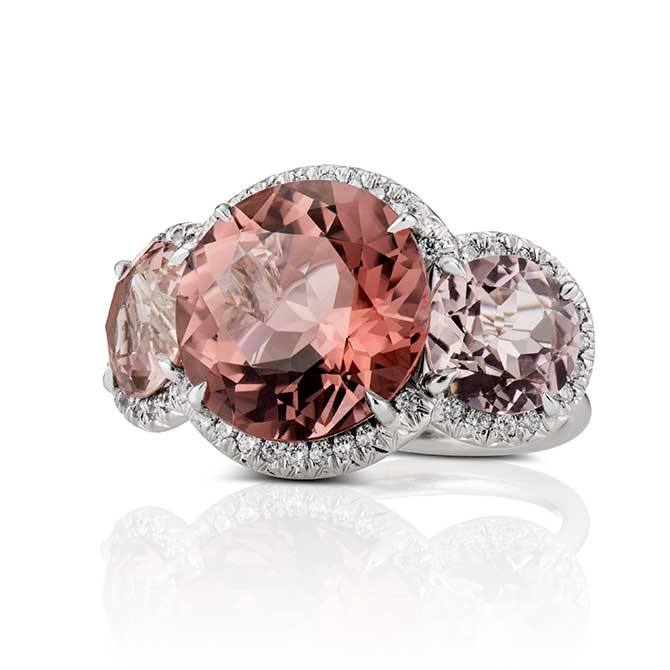 David Alan pink tourmaline ring