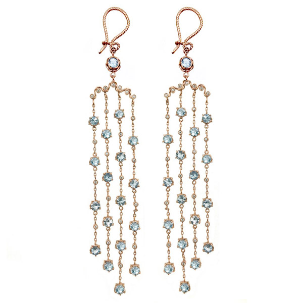 Jewelyrie aquamarine Athena earrings