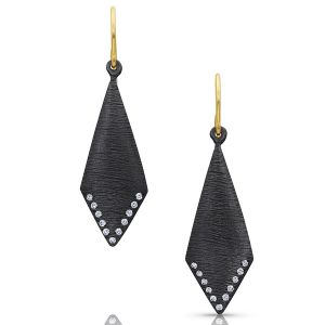 Kaali Designs blackened silver earrings