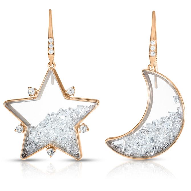 Moritz Glik diamond star earrnings