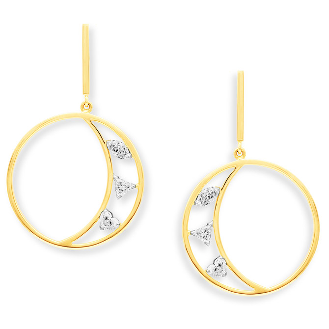 Swati Dhanak Floating Crescent earrings