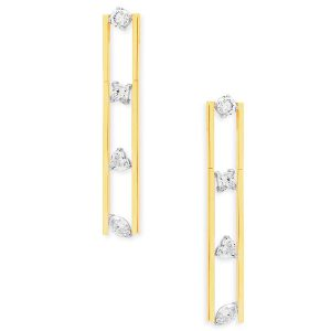 Swati Dhanak Linear Floating earrings