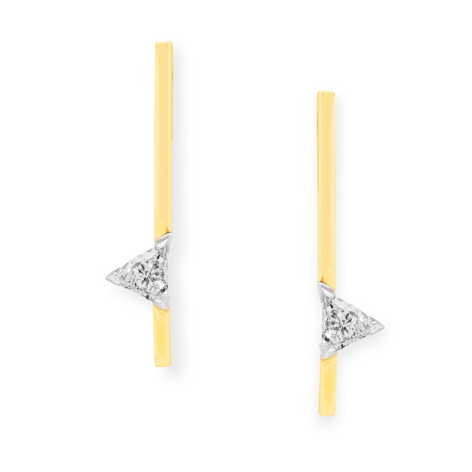 Swati Dhanak Floating Trillion Bar earrings