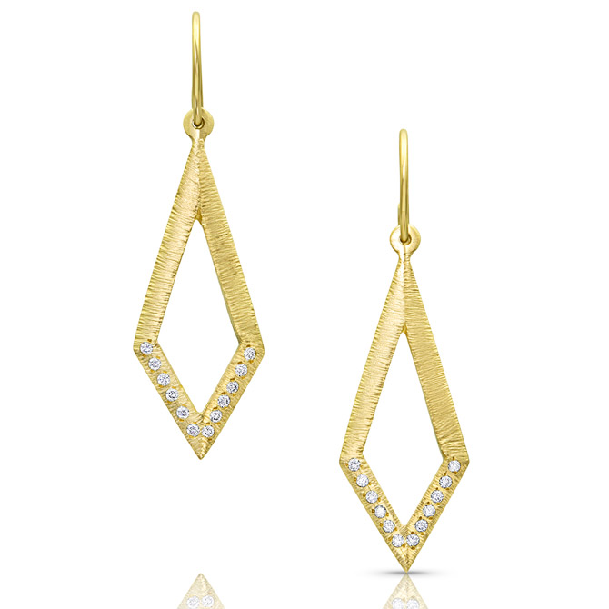 Kaali Designs textured gold earrings
