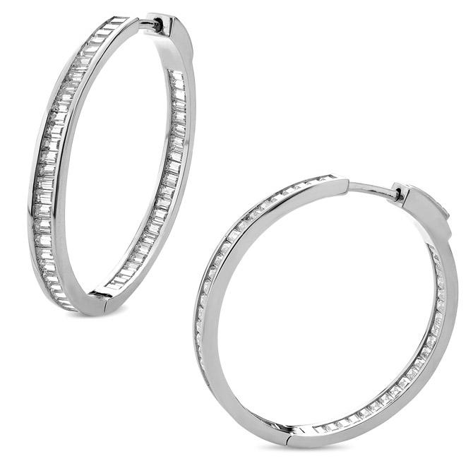Helen Andrews CZ hoop earrings
