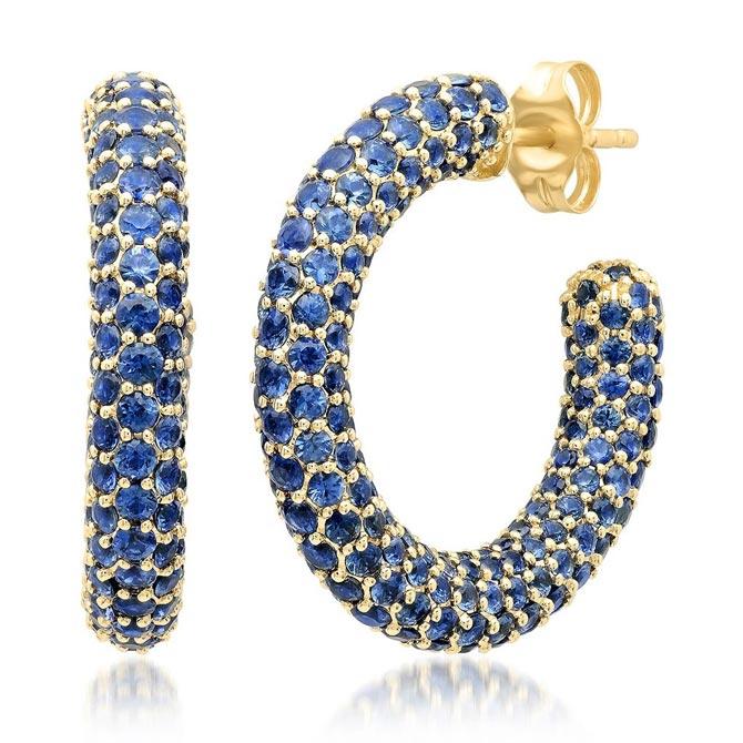 Eriness sapphire hoop earrings