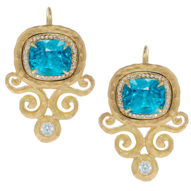 Pamela Froman Arabesque zircon earrings