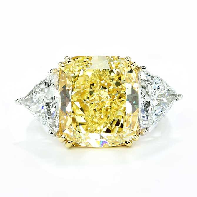 Forevermark by Premier Gem yellow diamond ring