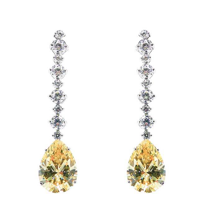 Gismondi yellow diamond earrings