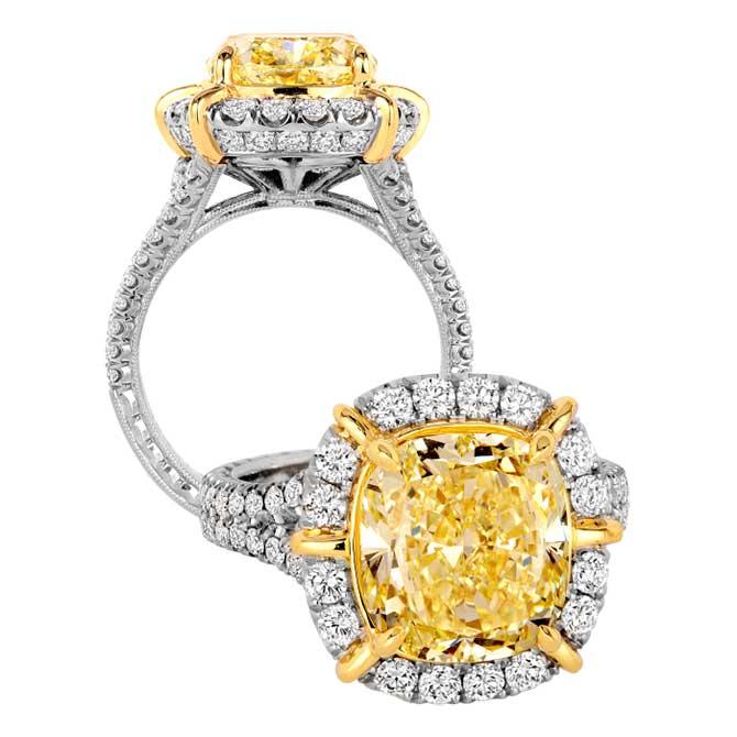 Jack Kelege yellow diamond ring