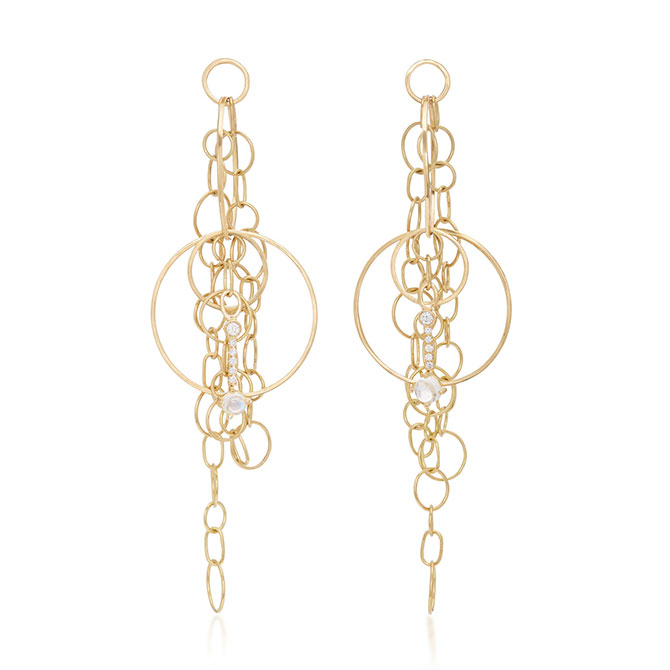 Katey Walker Chainmail gold earrings