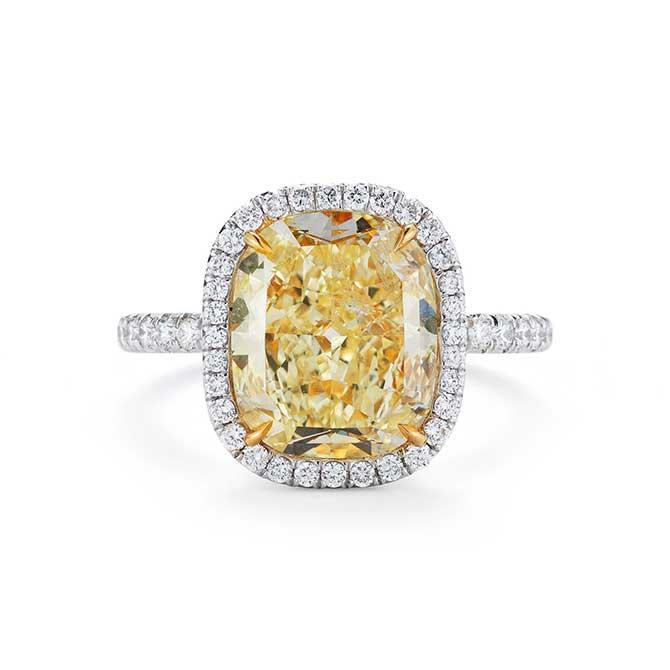 Leo Ingwer yellow diamond ring
