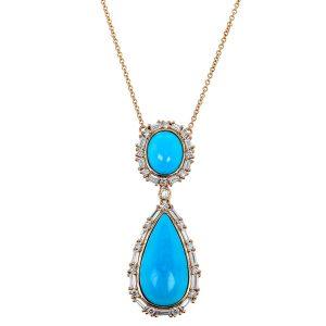 Yael Designs turquoise pendant