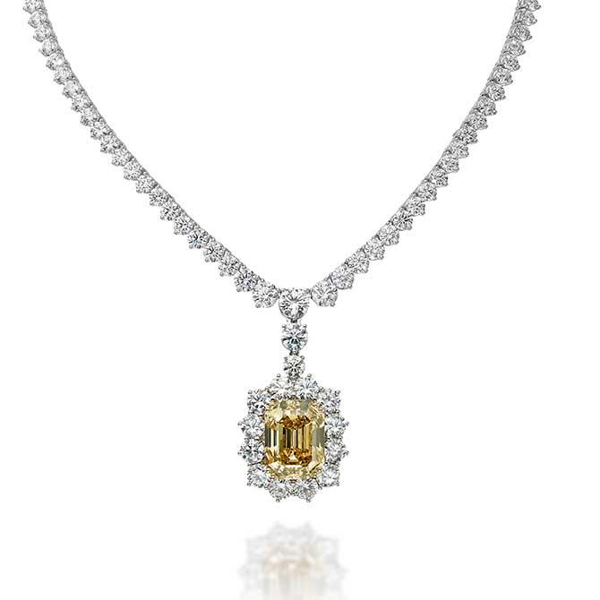 Picchiotti yellow diamond necklace