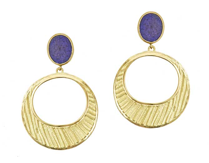 Rush Jewelry Icon Loulou Majorelle Crescent earrings